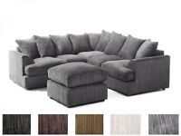 **1 YEAR WARRANTY**LIVERPOOL CORDED FABRIC CORNER SOFA OR 3 AND 2 SEATER SOFA SET - EXPRESS DELIVERY
