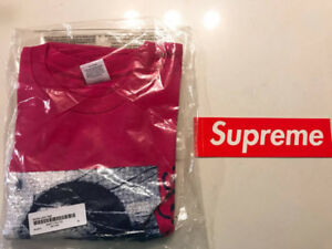 18SS Supreme Mona Lisa hot pink XL