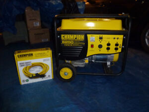 champion 5500w/6250w Portable Gas Generator with new 23ft cable