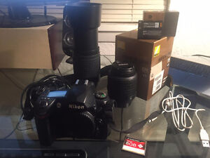 Nikon D70S with 55mm & 300mm lenses + new battery + new 400x CF