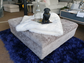NEW Chesterfield Grey Large Footstool / Coffee Table DELIVERY AVAILABL