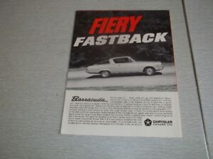 BROCHURE AUTO  BARRACUDA 1966