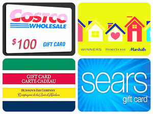 Buying ALL Costco, Hudson's Bay, Sears & Winners Gift Cards