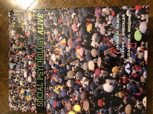 Textbook-Social Psychology Alive-First Canadian Edition
