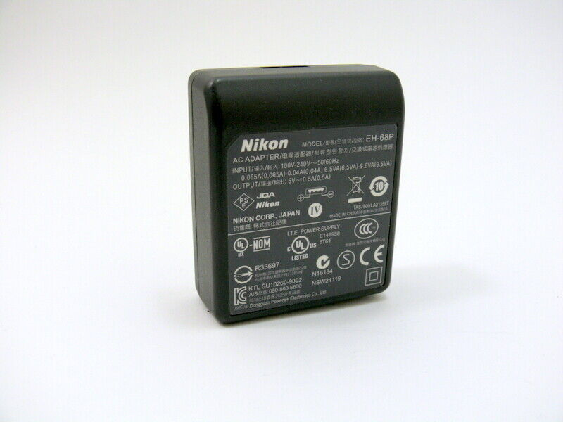 Nikon EH-68P AC adapter without USB cord.