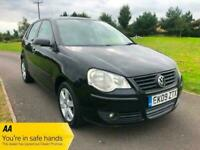 2009 Volkswagen Polo 1.4 Match 80 5dr Auto HATCHBACK Petrol Automatic