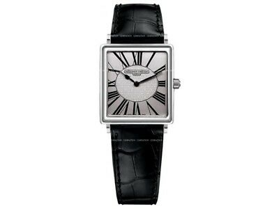 Frederique Constant Carree Mens Leather Watch Model FC-202RW3C6