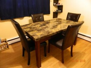 Kitchen table with chairs set.