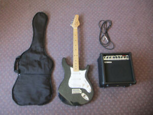 Electric  Guitar,  amp, and case for sale