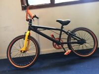 Black and orange bmx