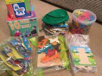 Mix of children's puzzles