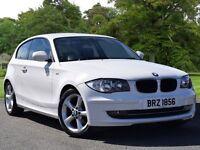 BMW 1 SERIES 2.0 116d Sport 3dr (white) 2010