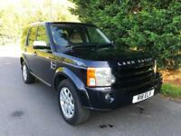 2008 LAND ROVER DISCOVERY 3 XS 2.7 TDV6 AUTOMATIC 4X4 7 SEATER TURBO DIESEL