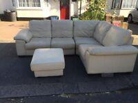 Genuine soft corner sofa set in good condition