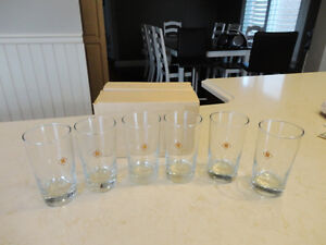 Vintage 1983 Ruddy Electric Wholesale New 6Pc. Whiskey Glass Set