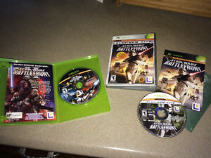 Original Xbox Star Wars Battlefront 1 & 2 RARE Windsor Region Ontario image 1