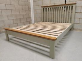 Portland Sage & Oak Painted King-Size Bed Frame
