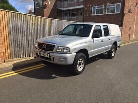Mazda B2500 4X4 PICK UP SILVER 2004 ONLY 74K 1 OWNER SNUG TOP