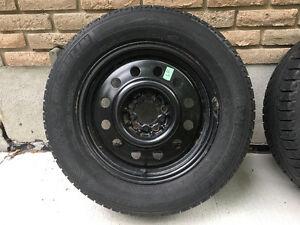 "Michelin X-Ice Snow Tires on Universal 16"" Rims"