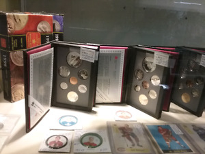 Proof coin sets, kiln-dried wood, furniture plus 1000 booths