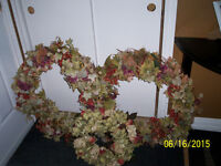 """2 big outdoor wreaths """" and one smaller matching wreath"""