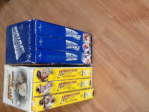 Indiana Jones and Back to the Future VHS Trilogies