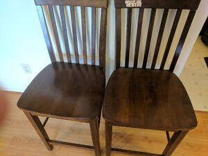 2 Sturdy Bar Height Table Chairs