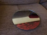 Ten mirror plates suitable as table pieces for wedding, parties etc