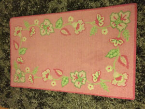 Pink Pottery Barn nursery rug
