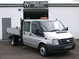 FORD TRANSIT 2.4 TDCi 350 LWB TIPPER DROP SIDE FLAT BED PICKUP CREW CAB VAN