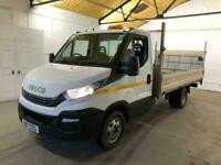2017 Iveco Daily 35C14 DROPSIDE WITH TAIL-LIFT TRW EU6