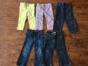 Very cute girls 2T size Jeans and Pants for $25 Oakville / Halton Region Toronto (GTA) image 1