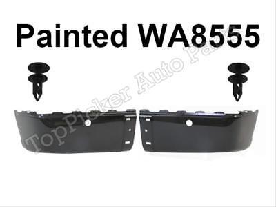 For 2007-2013 Chevy Silverado Rear Bumper Painted Black Retainer Clip W/Hole 4PC