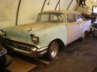 1957 Chevy Pro Street Tubbed Hot Rod Project