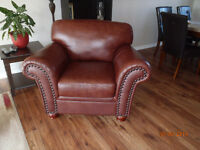 Executive Style leather arm chair