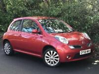 2008 NISSAN MICRA TEKNA, 1.4 ENGINE, 3 DOORS, BRAND NEW MOT & LOW MILES.