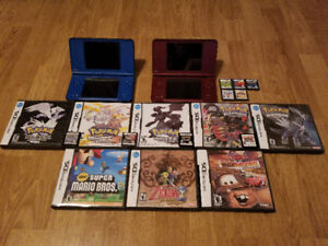 DS GAMES WITH 2 DS XL's  FOR SALE