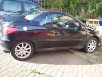 CONVERTIBLE Peugeot 206CC, 13 months test- fantastic! low miles-only £795