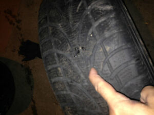 2 Winter Tires-Size 225/60/16 for only $20 each Cambridge Kitchener Area image 2