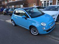 Fiat 500 sky blue 52000