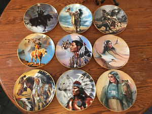 Franklin Mint Native American Collectible Plates