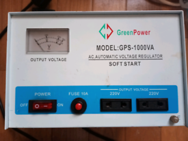 green power GPS- 1000 VA A.C. automatic voltage regulator. soft st