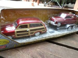SEALED 1940's Woody Wagon & Sedan Car Set (VIEW OTHER ADS)