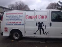 EXECUTIVE  carpet and upholstery cleaning.Tel:(519)694-5549