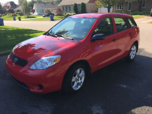 Toyota matrix 2007 bas millage