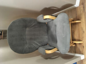 Glider chair with gliding foot stool