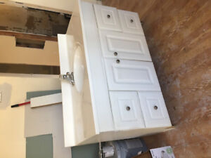 "48"" vanity, tap and top"