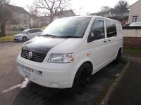 Volkswagen VW T5 T30 Camper Van 1.9 turbo diesel White with Black Alloys