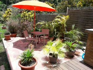 spacieux rez de jardin dans villa avec piscine privative