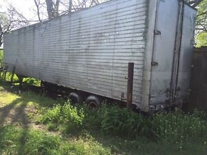 Storage semi transport enclosed trailers